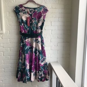 Monsoon UK floral midi sleeveless dress US sZ 4
